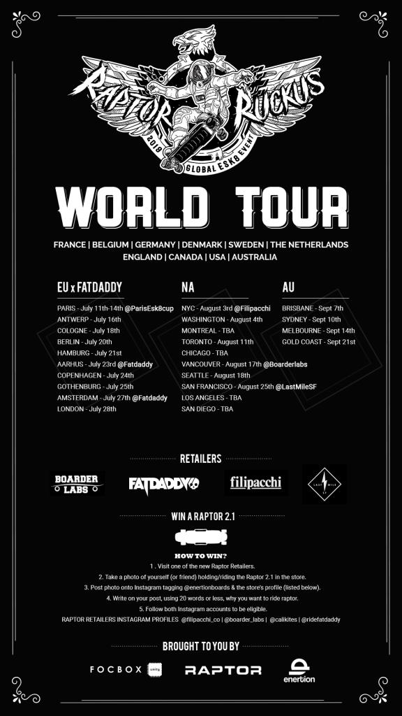 Fatdaddy enertion raptor europe tour