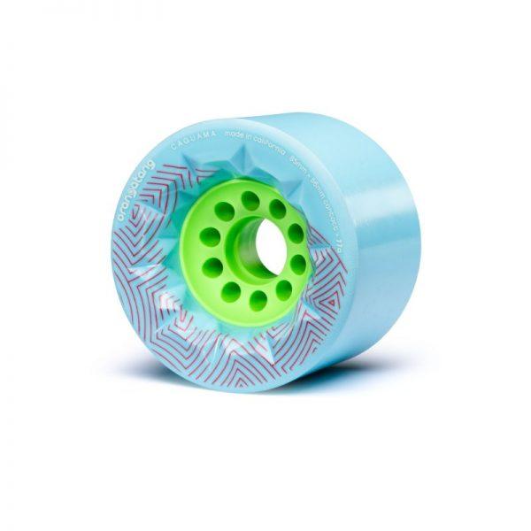 Blauwe Orangatang Caguama 85mm wielen orangatang caguama wheels