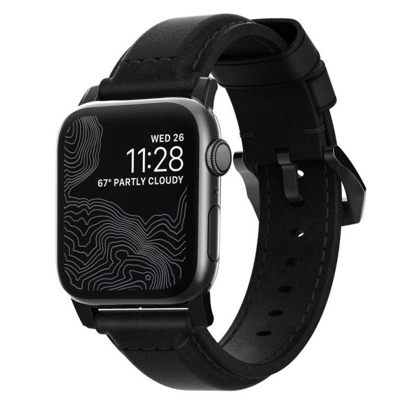 Nomad Apple Watch bandje - Traditioneel - Zwart - Zwart