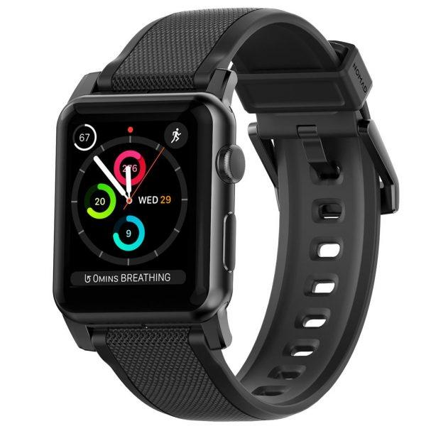Nomad Apple Watch bandje - Rugged - Zwart - Zwart