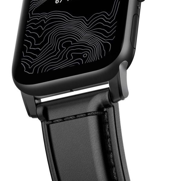 Nomad Apple Watch bandje - traditional - Cordovan - Zwart