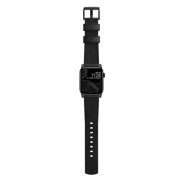 Nomad Apple Watch bandje - Modern - Zwart - Zwart